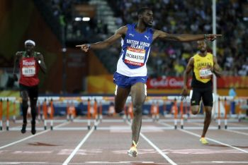 Kyron A. McMaster is one of three athletes from the Virgin Islands competing at the 2019 IAAF World Athletics Championships in Doha, Qatar. Photo: AP