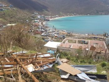 Hurricane Irma especially devastated the Virgin Islands in September 2017. The Territory has since been seeking loans for its recovery. Photo: VINO