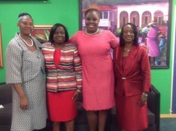 The Real Talk show in the latter part of 2013 was themed 'First Ladies of the Gospel' and one of the shows featured the wives of 'men of the cloth'. [L-R]Mrs Lolita Seaton (Methodist), Mrs Marion Turnbull (Cane Garden Bay Baptist), Mrs Karia J. Christopher and Mrs Nolma Chalwell (Church of God of Prophecy). Photo: provided/File