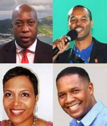 In clockwise order: Hon Myron V. Walwyn, Mr Henry O. Creque, Mr Trefor A. Grant and Ms Sandy M. Underhill. Photo: VINO/File/Facebook