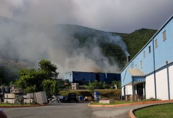 A major fire at the incinerator at Pockwood Pond on November 26, 2018 destroyed the control panel and electrical wirings and fittings of the facility. Photo: VINO/File