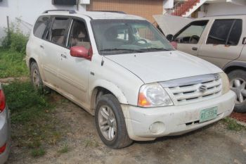 The vehicle in which three persons were in when they came under heavy gunfire while on the western end of Tortola on November 22, 2017. Photo: Team of Reporters