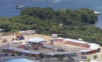 The festival grounds in Road Town will start soon start taking shape for Virgin Islands Emancipation Festival 2017. Photo: VINO/File