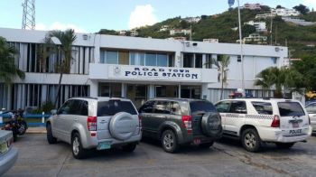 Road Town Police Station: Arming members of the Royal Virgin Islands Police (RVIPF) is one deterrent to crime, says Opposition Member Hon Julian Fraser RA (R3). Photo: VINO/File