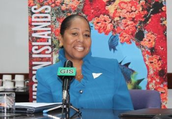 One of the prominent women in the Virgin Islands to publicly express her delight at the appointment of Jacqueline E. Vanterpool as Superintendent of Police is Director of the BVI Tourist Board, Sharon Flax- Brutus. Photo: VINO/File
