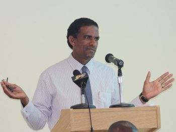 """""""As far as I am aware, any investments that I have with respect to the BVI Investment Club have been put in a Trust or under some other person's name or whatever legal advice I was given to ensure that I was not involved in any way to create any conflict of interest,"""" the Deputy Premier stated in the HOA on July 26, 2013. Photo: VINO/File"""