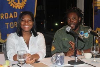 Former public prosecutor Ms Jude Hanley (left) and host of the ZROD Morning Ride Show, Mr Paul 'Gadiethz' Peart were also key contributors to the discussion on the education system of the Virgin Islands. Photo: VINO