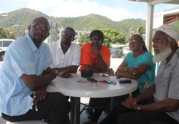 Members of a steering committee constituting taxi operators met with the Premier on Friday October 25, 2013 to determine the way forward on the issue of Carnival Cruise Line cancelling calls to the Virgin Islands for the latter part of 2014 and beyond. Photo: VINO/File
