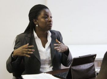 'Be objective in your reporting and not be with the journalists who have an agenda against offshore [industries],' was the plea made by Executive Director of the British Virgin Islands International Finance Centre, Elise Donovan at a meeting with journalists and talk show hosts on April 12, 2013. Photo: VINO/File