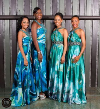 From right to left: Contestant #1 Raemona Maloney, Contestant #2 Brianna Henley, Contestant #3 Mekyla Phillips and Contestant #4 Rosanna Chichester. Photo: John Black