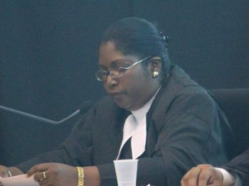Justice Vicki Ann Ellis was not pleased that a verbal exchange between Dr J.S Archibald and Valston Graham in the High Court was reported by an online media house. Photo; VINO/File