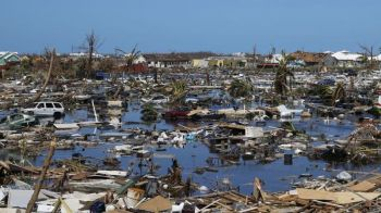 An area of the Bahamas damaged by Hurricane Dorian. Premier and Minister of Finance Hon Andrew A. Fahie (R1) said what happened in the Bahamas is a powerful example of climate change. Photo: Internet Source