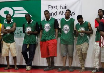 Bayside Blazers during the roll call of teams at the Opening of the Hon Fraser Save the Seed League on August 15, 2015. Photo: VINO/File