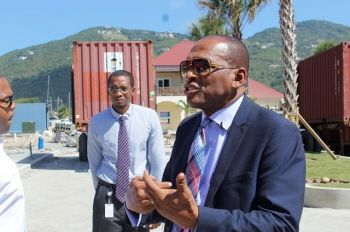 Minister for Communications and Works, Hon Mark H. Vanterpool (R4) had previously told this news site that government will be focusing on some temporary fixes to some of the road while others will be rebuilt at a later time. Photo: VINO/File