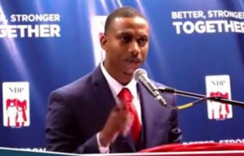 """Mr Walwyn urged to people to give his candidate Mr Parillion a chance, """"He walks with you, talks with you, understands your needs and is capable of giving you effective representation. So, I ask you, give him your vote and give him the opportunity to really make a difference for District 3."""" Photo: Facebook/File"""