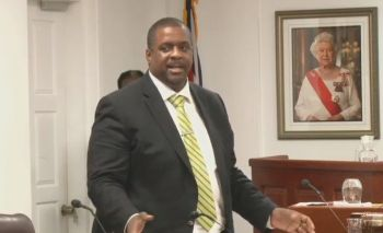 Premier Andrew A. Fahie (R1) cites as 'Disappointing' and 'Cowardly' the conduction of the Opposition at Monday's June 3, 2019, Fourth Sitting of the First Session of the Fourth HoA. Photo: Youtube