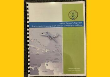 The Auditor General, Sonia M. Webster, in her report titled 'Government's Financing of BVI Airways' Direct Flight to Miami', now a public document, listed Mr Ryan R. E. Geluk as one of the Directors of BVI Airways at the time of the investigation. Photo: VINO/File