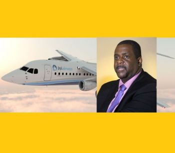 Premier and Minister of Finance Honourable Andrew A. Fahie (R1), made it clear he was advised against giving any details as the matter was in court. Photo: BVI Airways/Facebook/VINO