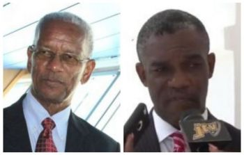Premier, Dr the Honourable D. Orlando Smith (Left), supports Amway's' decision for 'Willy T' to leave 'Great Harbour' on Peter Island while Honourable Archibald C. Christian (AL) who helped negotiate the move to Peter Island some months ago, did not respond to our news desk inquiry, as of publication time. Photo: VINO/File