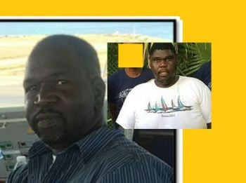 It is unclear if the now deceased Santo Y. Hernandez was of interest to the police in relation to the murder of Alston E. Penn's (inset) brother Franklin E. Penn Jr (left), who was gunned down on November 22, 2017 at West End, Tortola. Photo: Facebook/VINO