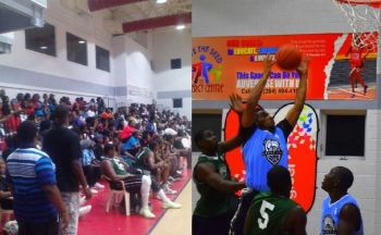 Packed crowds at the Save the Seed Energy Centre witnessing the opening game in the Senior Division between West Gunners and Splash Brothers in 2016. Photo: Charlie E. Jackson/VINO