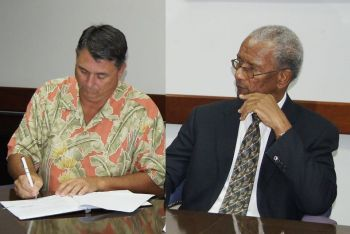Former project coordinator of the cruise pier development project, President of I D E A Inc., Hugh E. Darley on January 22, 2016 had said Premier and Minister of Finance Dr The Honourable D. Orlando Smith was 'misinformed' for stating that all of what Government owed him had been paid in full. Photo: VINO/File