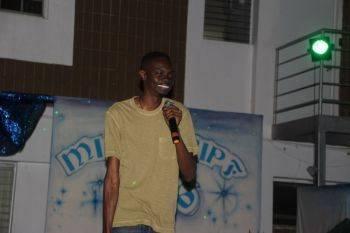 Dwain B. Frett, a talented entertainer and song writer, performing at the Royal Virgin Islands Police Force (RVIPF) pageant on October 30, 2016. Photo: VINO