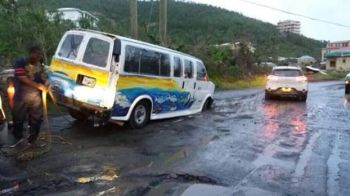 The state of parts of the territory's roads is one of the reasons persons support the move by Disney Cruise Line (NCL) to skip calling to the Virgin Islands ports until April 2018. Photo: VINO/File