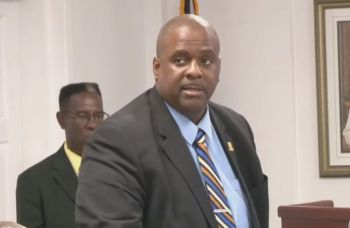 """According to the Premier Andrew A. Fahie, his Government was willing to respect the voices of the people of the VI so that common grounds can be found, """"Hence, Mr Speaker, you amend the order paper to delete item viii (7) and viii (8) from the Order of the Day so that we can have further consultations,"""" Premier Fahie said during the sitting. Photo: VINO"""