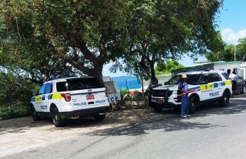 The scene of the shooting incident on Fort Hill, Tortola on June 22, 2017. Photo: Team of Reporters