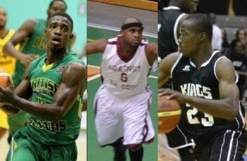 Kellven M. Samuel went to Bayside Blazers, Nathaniel Malone went to Zone 6 Ballers and Ray D. Victor to West Gunners. Photo: VINO/File