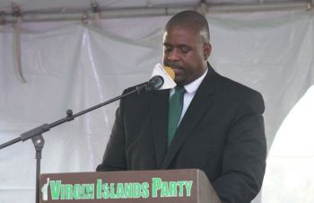 Further, taking jabs at the Hon Andrew A. Fahie (R1) led Virgin Islands Party (VIP), he said his previous allegiance 'kicked him to the curb' in ways he won't speak about, however, he is still in the race and his name will be the first on the ballot for the district. Photo: VINO/File