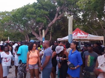 Photo taken earlier in the afternoon at the social event on Long Bay Beach, Beef Island on May 16, 2016. According to reports, there were still a number of people on the beach at the time of the shooting. Photo: Provided