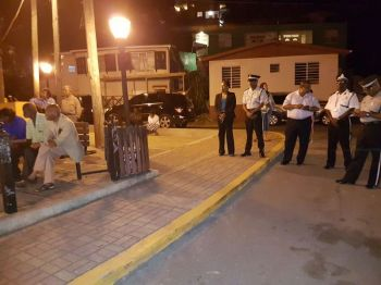 A handful of persons turned up for the community meeting called by the Commissioner of Police Michael Matthews at the Stickett in Long Look, Tortola on January 16, 2017. Photo: Provided