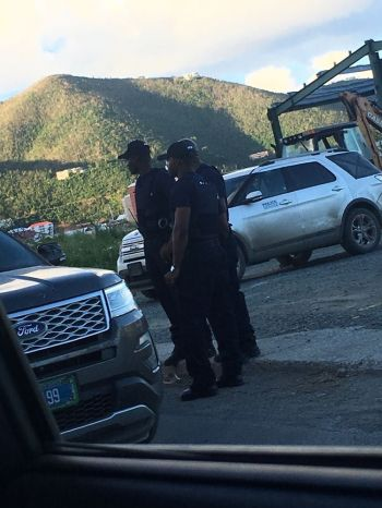 One of the criticisms of the curfew is that it is seemingly turning the Virgin Islands into a police state. Photo: Team of Reporters