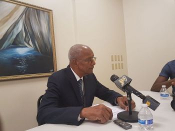 A public ownership register for financial services being imposed on the Virgin Islands by the United Kingdom is a constitutional and human rights issue, says Premier and Minister of Finance Dr The Honourable D. Orlando Smith (AL). Photo: VINO