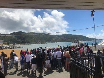 Many residents flocked to Road Town Fast Ferry for the 2018 Poker Run and the expectation for the 2019 edition is much higher. Photo: Team of Reporters