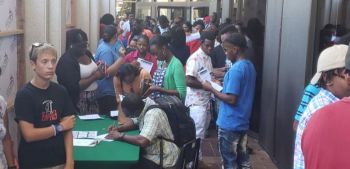 More than 200 persons registered with the 1000 Jobs in 1000 Days initiative launched on August 21, 2019. Photo: VINO/File
