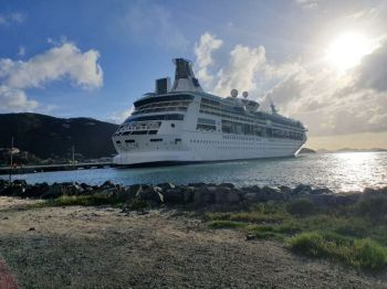 Crew members aboard cruise ships in the Virgin Islands for warm layups will not be allowed off the ships. Photo: VINO