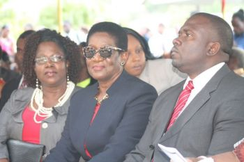 Three of the National Democratic Party (NDP) Backbenchers. From left: Sixth District Representative Hon Alvera Maduro-Caines, Fifth District Representative Hon Deloris Christopher and Junior Minister for Trade and Investment Promotions, Hon Marlon A. Penn (R8). Photo: VINO/File