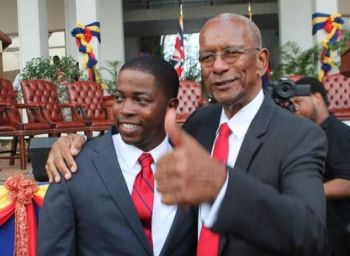 The defiance and division among the NDP Government was played out boldly when Second District Representative Hon Melvin M. Turnbull, left, stated in the House of Assembly on December 13, 2017 that Premier and Minister of Finance Dr The Hon D. Orlando Smith (AL), right, lied when he said Government played an active role in the cleaning up of his district following hurricanes Irma and Maria. Photo: VINO/File