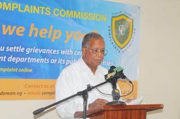 Mr Georges will say goodbye to the Office of the Complaints Commissioner when he proceeds on leave on July 1, 2015, the same day that Mrs Sheila N. Brathwaite's appointment as the new Commissioner takes effect. Photo: VINO/File