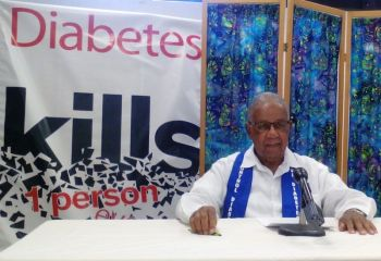President of the BVI Diabetes Association, Mr Elton Georges CMG, OBE said persons should consider the association in their will. Photo: VINO/File
