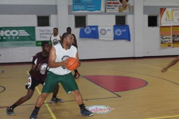 Kyle L. Abraham (with ball) was a key player for Bayside Blazers in the 2015 Hon Julian Fraser Save the Seed League. Photo: VINO/File