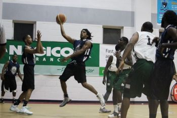 Knights are regarded as one of the top 5 basketball teams in the League with players like Jevon K. Serrant aka Twin (seen here going for a lay up), former college player Houston E. Penn and three points specialist Nichols Charles. This year their Draft pick-up is Eustace 'Boss' Freeman. Photo: VINO/File