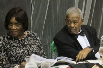 Hon Ralph T. O'Neal OBE with his wife Reverend Edris O'Neal at a Gala Dinner in his honour on November 14, 2015. Photo: VINO/File