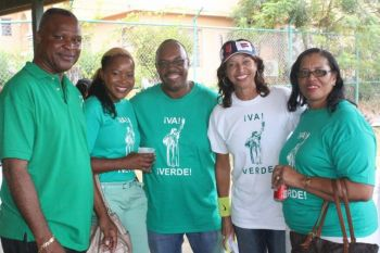 During the campaign trail! From left: Sixth District candidate Elvis 'Juggy' Harrigan, Fifth District's Zoe J. Walcott-McMillan, Territorial At Large candidate Dr Karl Dawson, Fourth District candidate JoAnn 'Roxie' Romney and Territorial At Large candidate Irene F. Penn-O'Neal. Photo: VINO