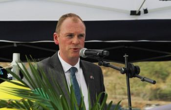 """Following some disagreements regarding the interpretation of the conditions surrounding the guarantee by both the Premier Andrew A. Fahie and the unelected Governor, Augustus J. U. Jaspert, Hon Fahie said the crux of the matter is not about who is right, but rather, 'what is right for the people of the Virgin Islands."""" Photo: VINO/File"""