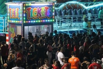Huge crowds gathered at a ticketing boot at the opening of the 2019 Festival. The Premier said that while the 2020 celebrations will be without colourful banners waving in the streets, having the Festival Village in Road Town; Rise and Shine, local bands and artists; international guest artists, Queen Show, Parade, Prince and Princess and other events, the territory is still free. Photo: VINO/File