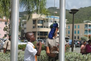 On March 9, 2015 Jaleel F. Cameron was given the distinct honour of hoisting the Commonwealth Flag at the Commonwealth Day Ceremony at the Central Administration Complex. Photo: VINO/File